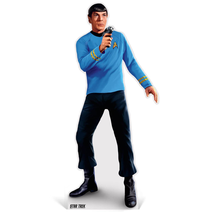 Advanced Graphics Standee Spock Phaser Life-Size Cardboard Cutout | Star Trek Spock with taser Life-Size Cardboard Cutout | Prime Party 1080STS1