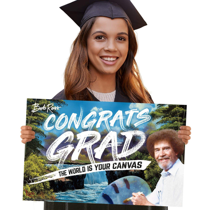 Prime Party Yard Sign Bob Ross Congrats Grad, Graduation Yard Sign 1040YSGRD3