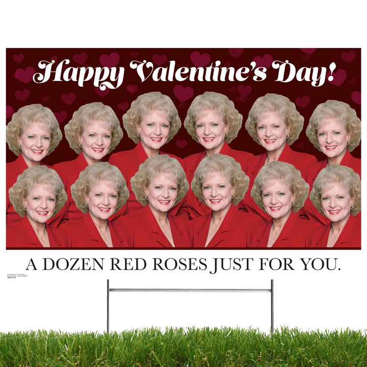 Advanced Graphics Yard Sign Golden Girls, Happy Valentines Day- A Dozen Red Roses Just for You, Yard Sign 1060YSVDR