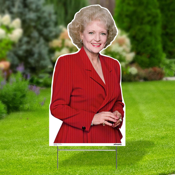 Prime Party Yard Sign Single Red Rose 1060YSSR