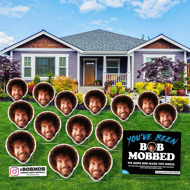 Advanced Graphics Yard Sign Standard BOB MOB Kit BOB  MOB, Bob Ross 16-Piece Yard Sign Kit 1040YSBM
