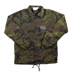 Captain Fin Type Patch Coaches Camo Jacket - Outer Tribe