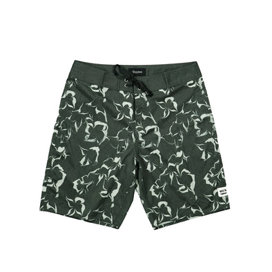 Brixton Washed Stone Black Barge Trunk Board Short - Outer Tribe