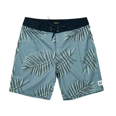 Brixton Gray Blue Barge Trunk Board Short - Outer Tribe