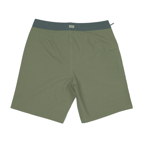 CAPTAIN FIN DOLPHIN SOLID GREEN BOARDSHORT - Outer Tribe