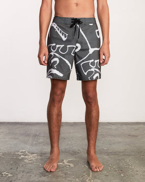 RVCA Palm Scribble Trunk