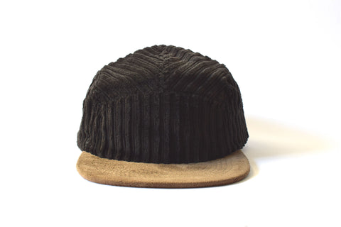 Corduroy Negro Five Panel Hat