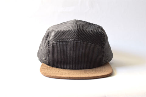 Corduroy Gris Five Panel Hat