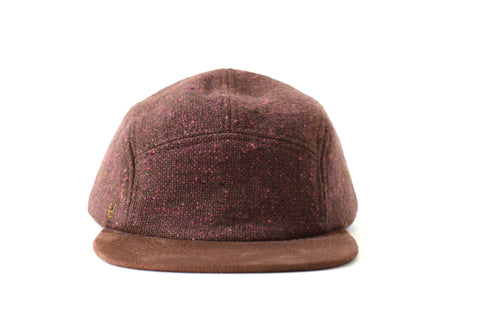 Cafe Brown Donegal Five Panel Hat
