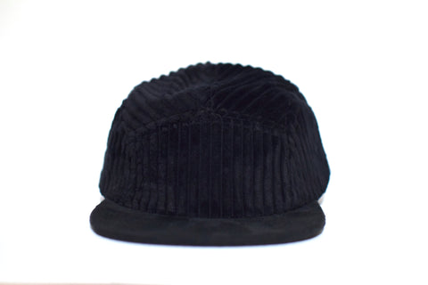 Corduroy Negro II Five Panel Hat