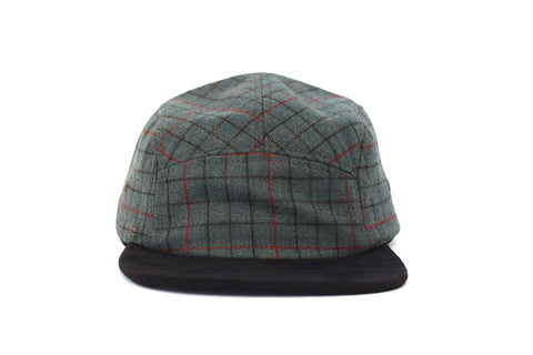 Herrington Plaid Wool Five Panel Hat