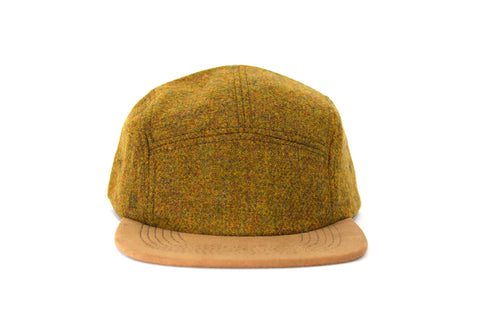 Mustard Melange Wool Five Panel Hat