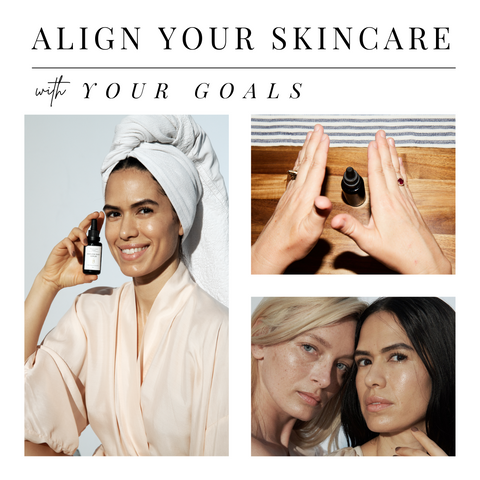 Align your skincare with your goals reiki charge model spa towel girls homemade bottle ageless serum