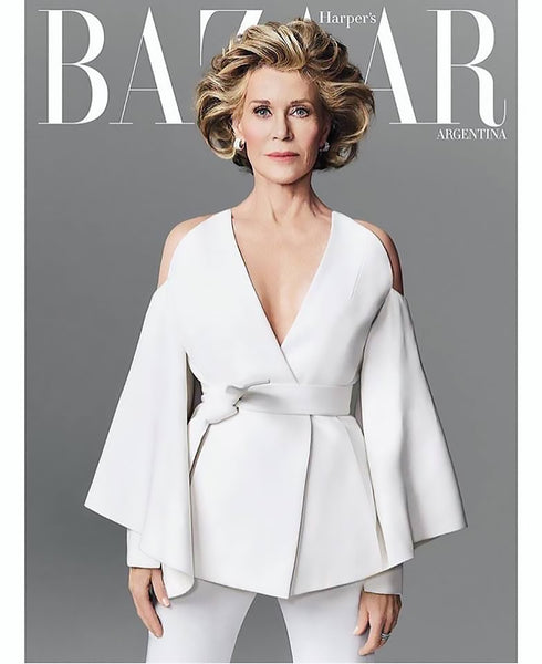 Jane Fonda-Harpers Bazaar/Makeup by Shawnelle Prestidge/Photo by Nino Munoz
