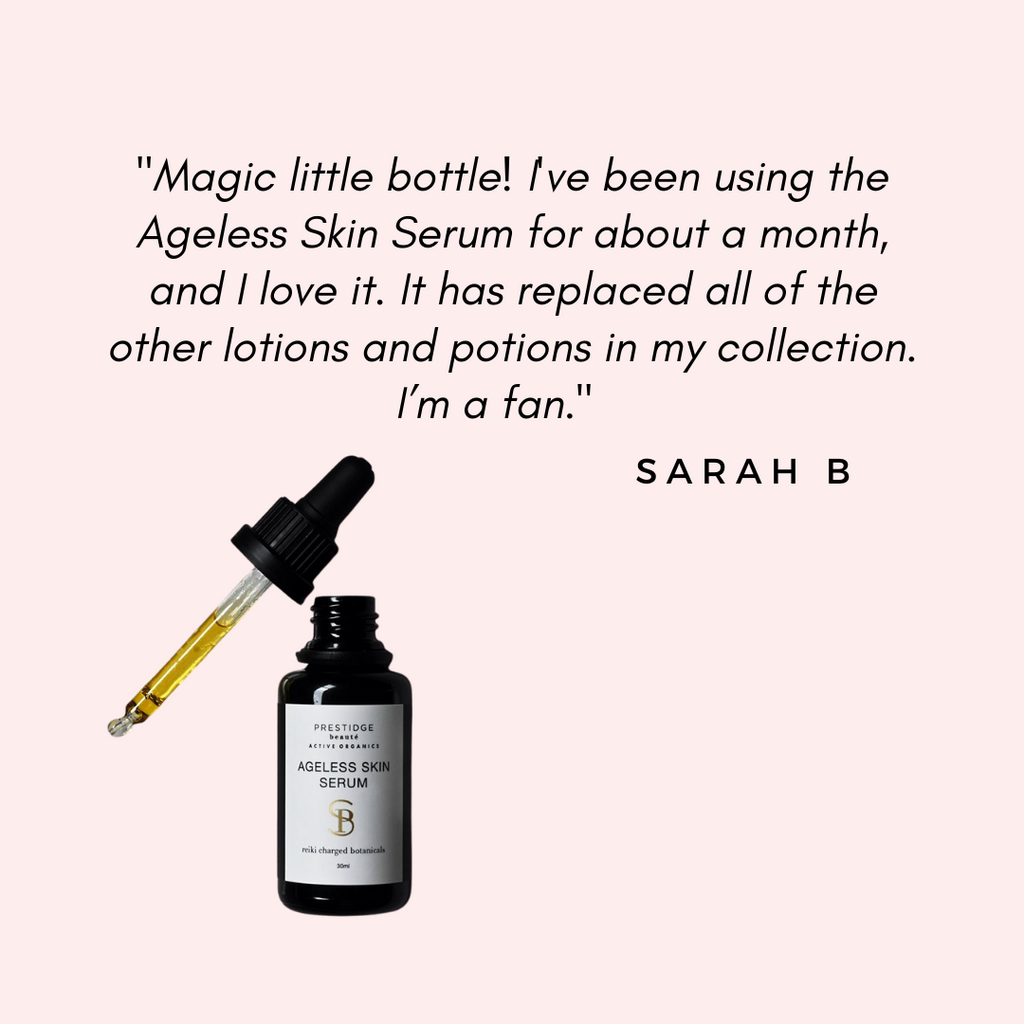 """Magic little bottle! I've been using the Ageless Skin Serum for about a month, and I love it. It has replaced all of the other lotions and potions in my collection. I'm a fan."""