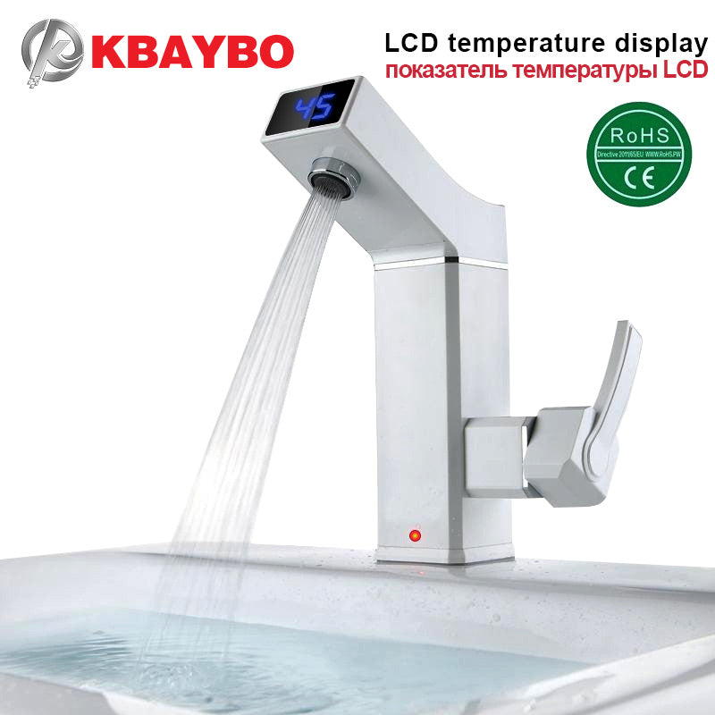Electric Faucet with LCD   instant hot water   Digital Kitchen ...