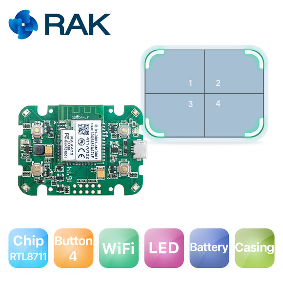 Internet button/IoT button, WiFi Smart button hardware for IoT Developer with Casing and Battery
