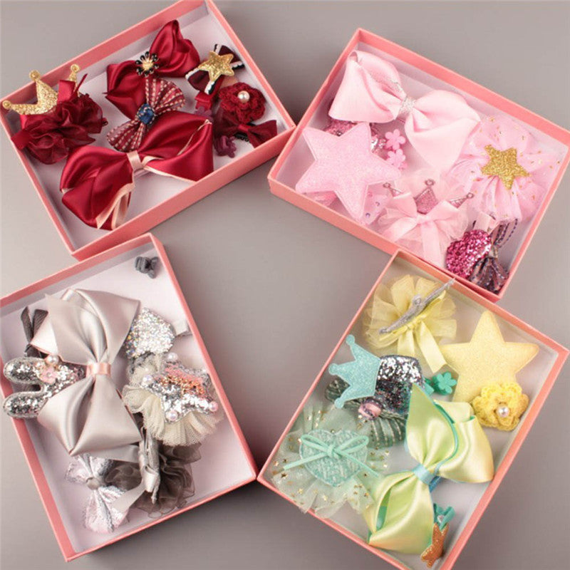 10 Pcs Baby Hair Accessories Set Clip