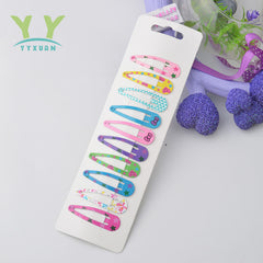 10 Snap Hair Clips For Kids Multi Pattern Clip