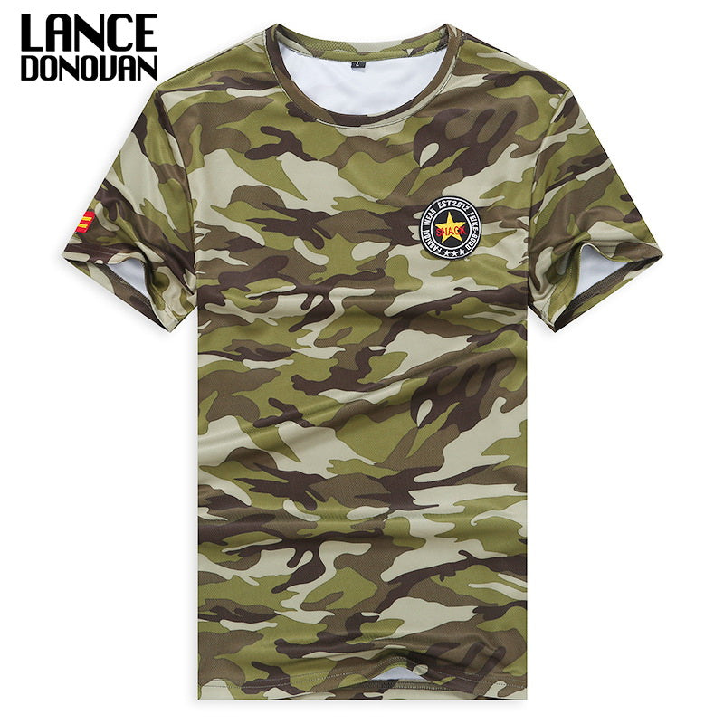 100% Polyester Military Camouflage Quick Dry T-Shirt Shirt