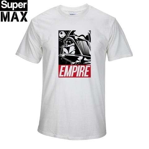 100% Cotton Short Sleeve Star Wars Print Men Tshirt Shirt