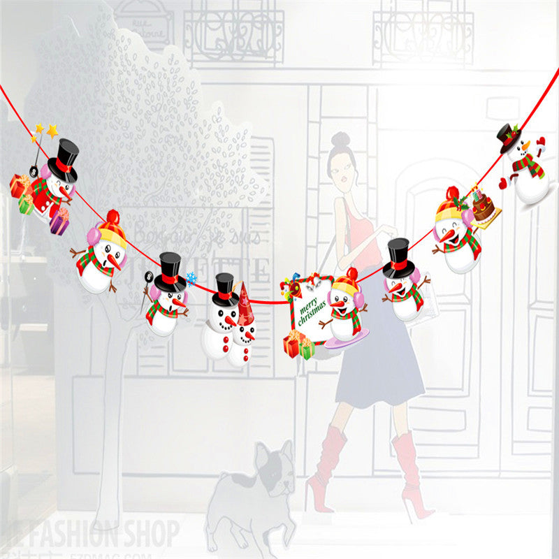Santa & New Year Christmas Day Party Decoration Z Banner