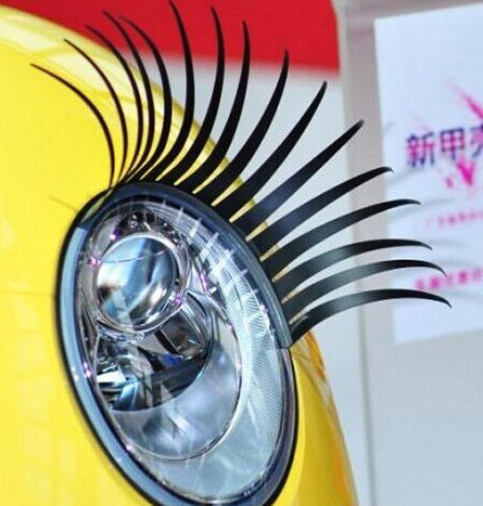 3D Automotive Eyelashes Car Eye Lashes Logo Sticker 2Pcs = 1 Pair Auto Accessories