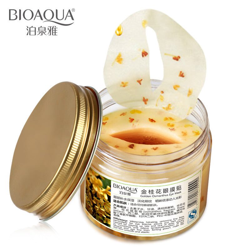 80Pcs/bottle Bioaqua Gold Osmanthus Eye Mask Collagen Gel Anti-Aging
