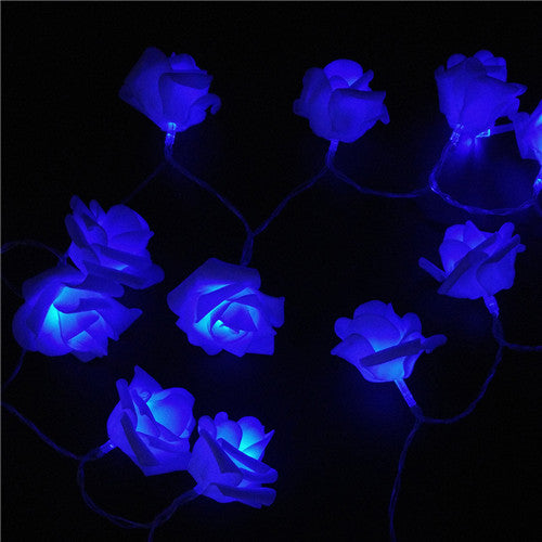 Events And Parties 2M 20Led Wedding Rose Led String Lights Battery Holiday Decoration Lightings Rosa Guirlande Lumineuse Blue