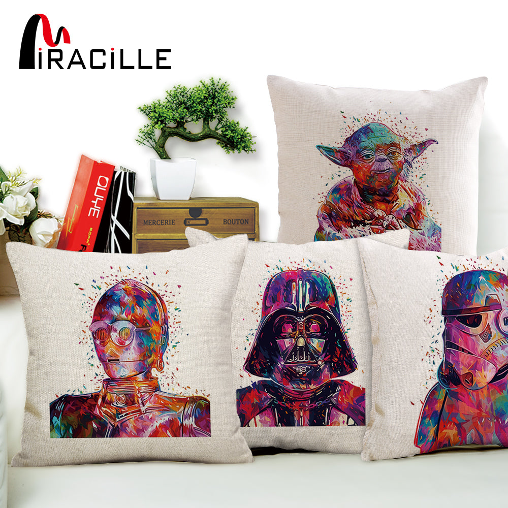 Watercolor Star War Printed Throw Pillowcase Pillow Case