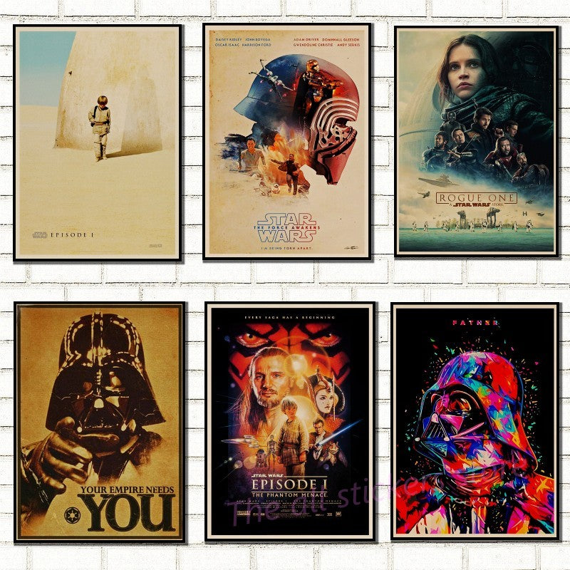 Star Wars Poster. New Hope.  The Return Of Jedi.. Force Awakening .rogue One.the Phantom Menace Art Kraft Posters /5011