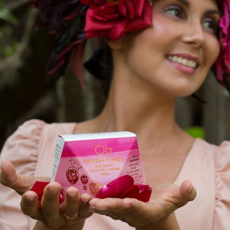 Masques And Exfoliators - O'o Hawaii Birds + Roses Rose Quartz Hydrating + Firming Mask