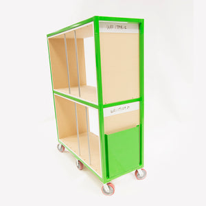 "Sort Cart 60""Wx77""Hx24""D with Center Shelf with Shelves *Shelves not included"