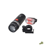 The Road Hero Five LED Bike light combo (front light and tail light)