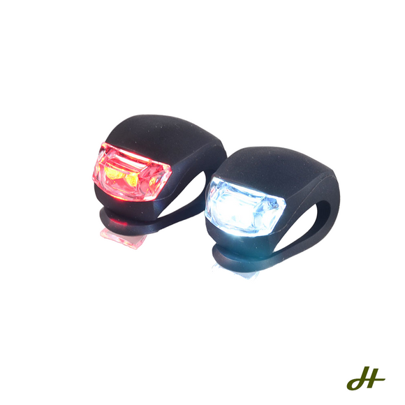 Front and Rear Silicone LED Bike Light Set