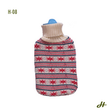 Hot Water Bottle with knitted cover