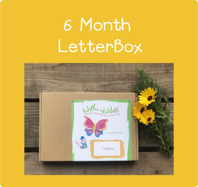 6 Month LetterBox Subscription £54 for 6 months or £9 per month