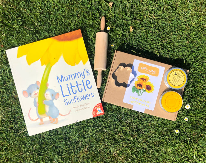 Sunflower Book, Grow your own Sunflowers Kit, Yellow Playdough & Accessory kit