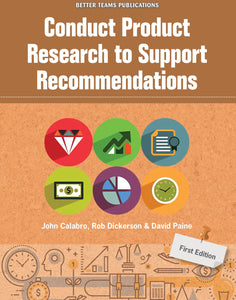 Conduct Product Research to Support Recommendations