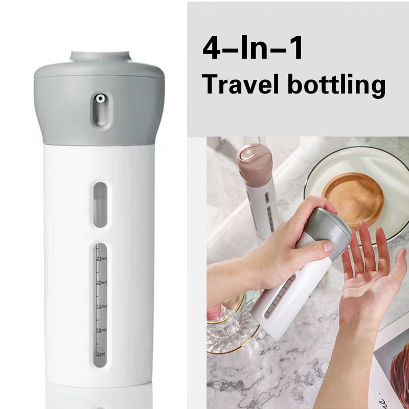 4-in-1 Lotion Shampoo Gel Travel Dispenser