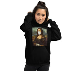 Load image into Gallery viewer, Mona Face-mask Lisa Unisex Hoodie - Blasé Clothes