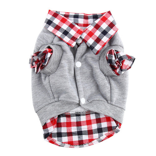 Plaid Collared Dog Sweater