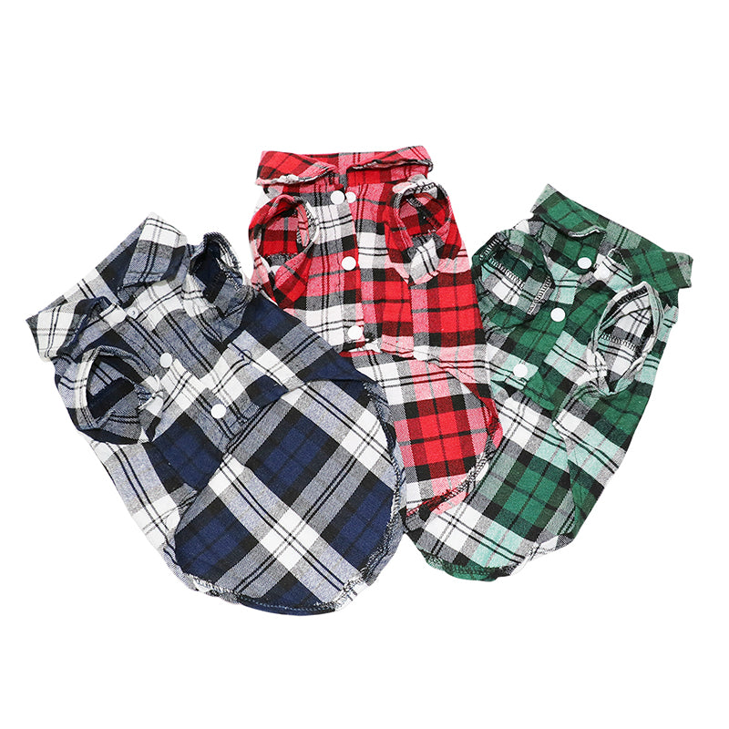 Plaid Dog Button Up Shirt