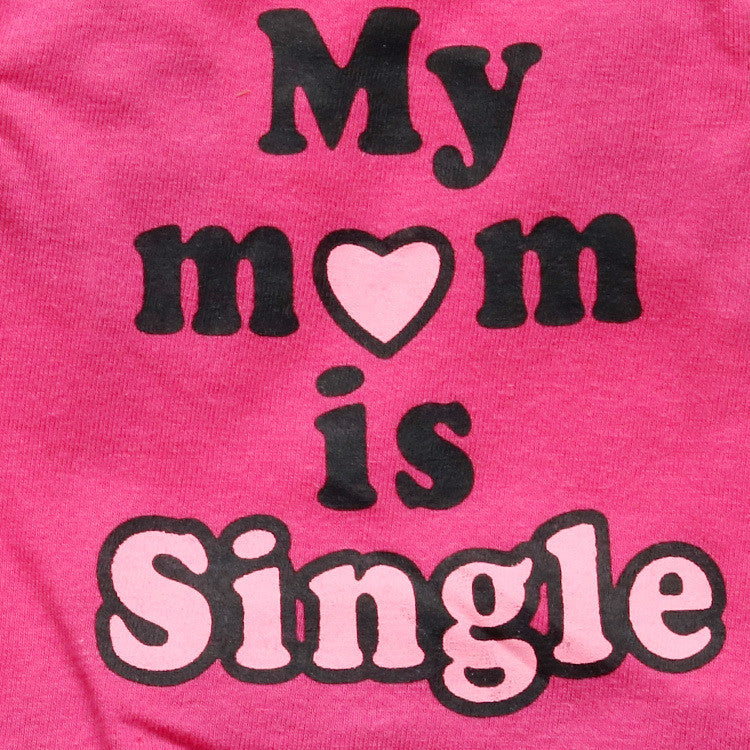 My Mom is Single Doggie Shirt