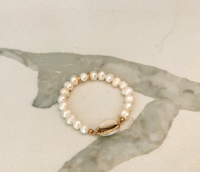 Lola Cowrie Shell & Pearl Beads Bracelet