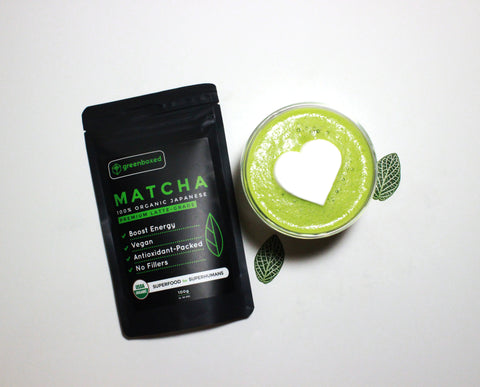 greenboxed matcha green tea powder latte