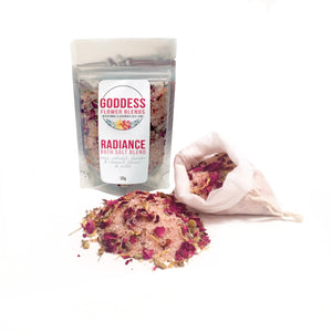 Floral Bath Salt Blend Cotton Bag