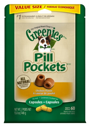 Greenies Pill Pockets Canine Chicken Flavor Dog Treats