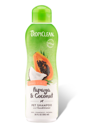 Tropiclean Papaya & Coconut Pet Shampoo and Conditioner