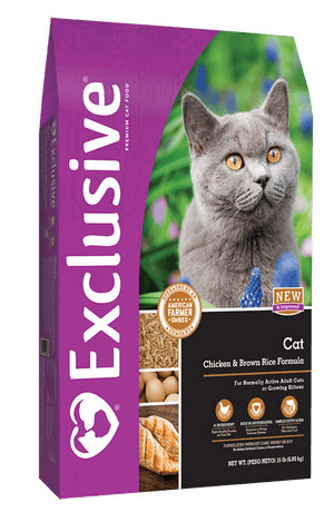 Exclusive® Cat Chicken & Brown Rice Formula Cat Food